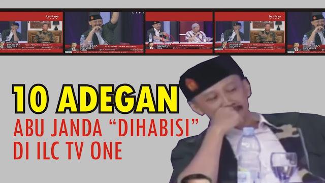 "[Video] 10 Adegan Abu Janda ""Dihabisi"" di ILC"