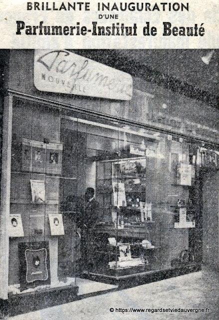 Parfumerie nouvelle Clermont-Ferrand 1960