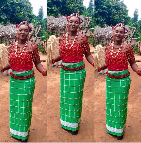 Chioma Chukwuka-Akpotha steps out in Igbo native costume