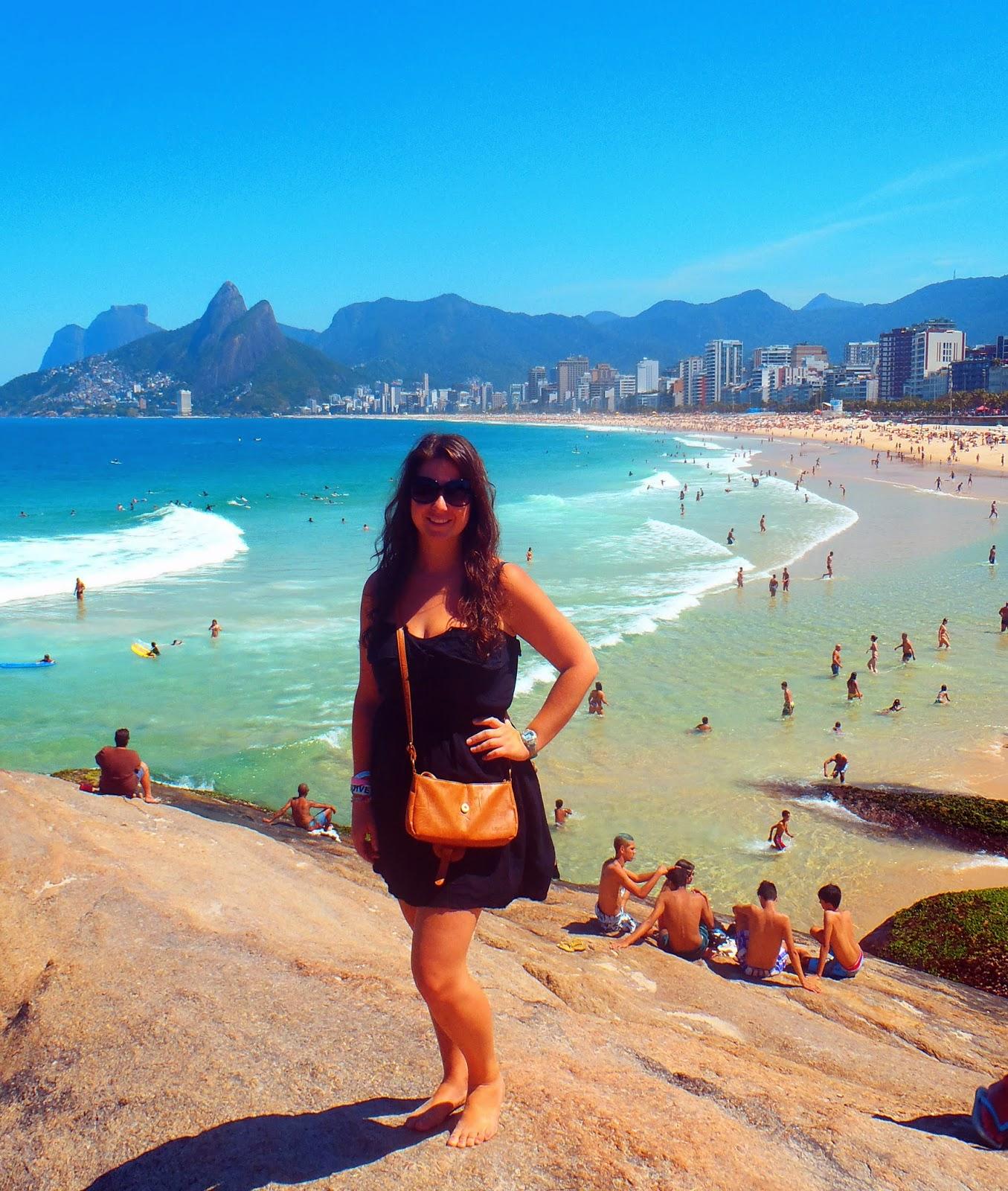 Girl at Ipanema Beach Rio de Janeiro