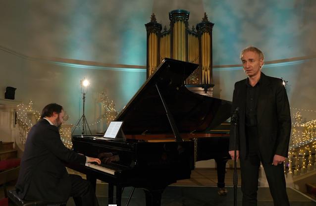 Schubert : Winterreise - Sholto Kynoch, Dietrich Henschel - Oxford Lieder Festival (Photo taken from live stream)