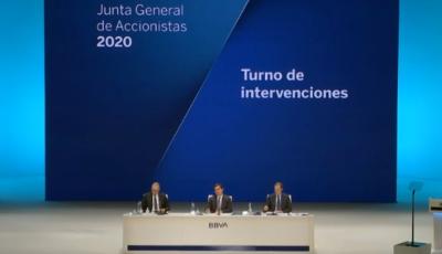 Quenda de intervencións Xunta Xeral de Accionistas BBVA 2020