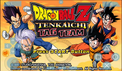 Download Game Dragon Ball Z Tenkaichi Tag Team ISO CSO PPSSPP for Android