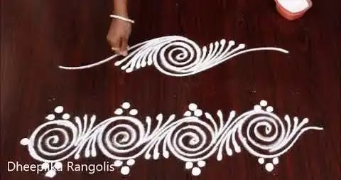 easy to make rangoli for borders