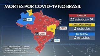Brasil registra 2.798 mortes por Covid em 24 horas, novo recorde da pandemia