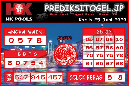 Prediksi Togel Hongkong Kamis 25 Juni 2020 - Prediksi Togel JP