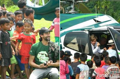Leonardo Dicaprio datang  ke Aceh