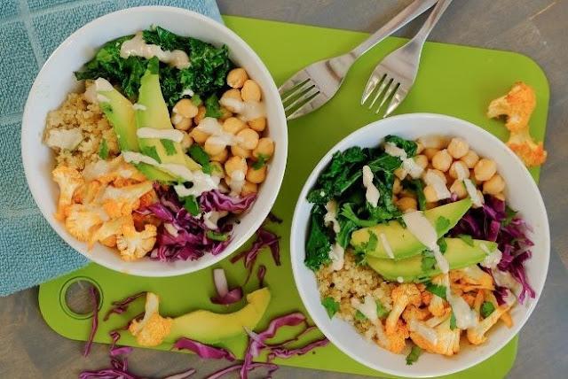 Spicy Cauliflower Power Bowl #vegetarian #healthy