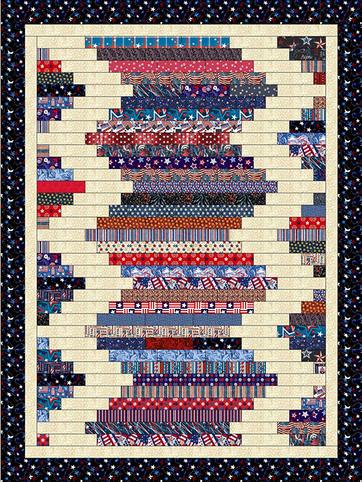 Zig Zag Strips Quilt Free Pattern designed and written by Lisa Sutherland of Quilt Jubilee
