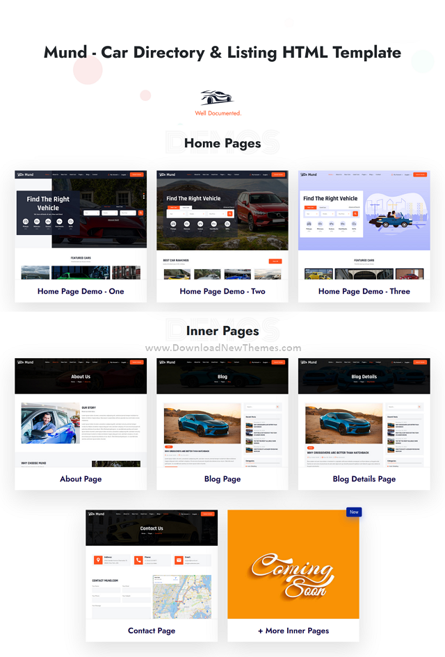 Car Directory and Listing HTML Template