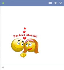 Couple Of Facebook Smileys Are Perfect Match