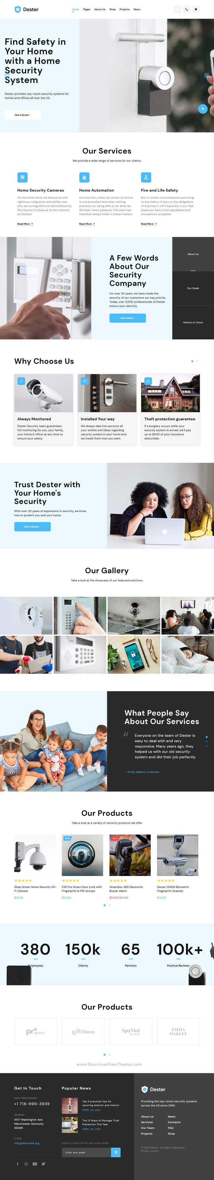Security System Bootstrap Template