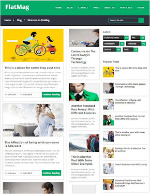 Flat Mag Adsense Responsive Blogger Templates Without Footer Credit