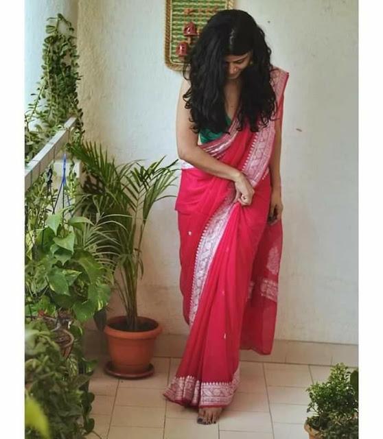 Pure Georgette Chiffon khaddi silver buti colourfull sarees
