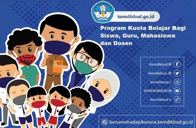Program bantuan kuota belajar bagi siswa, guru, mahasiswa dan dosen ini diberikan berupa kuota umum dan kuota belajar