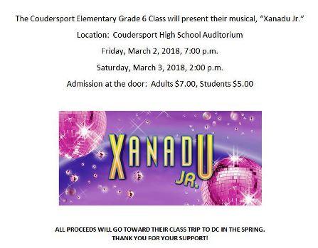 3-3 Xanadu Jr. Coudersport 6th Grade