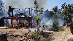 Lagi, Kebakaran Ludeskan Dua Unit Rumah di Pammana