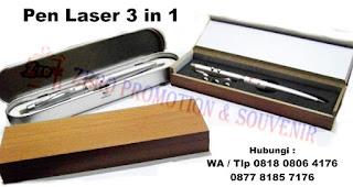 Souvenir pen 3 in 1 dengan KOTAK KAYU