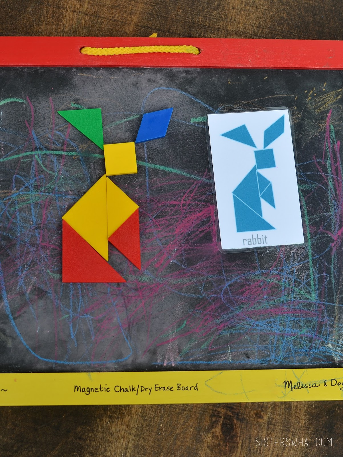 diy tangram magnetic traveling