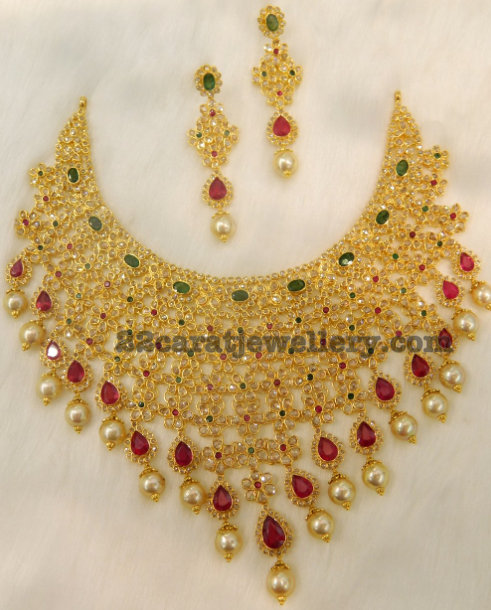 Chakri Uncut Diamond Bridal Set by Kothari jewels