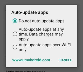 Mematikan Auto Update Pada Play Store