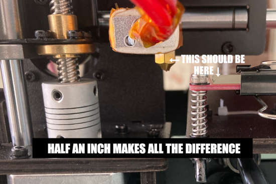 Half an inch makes all the difference