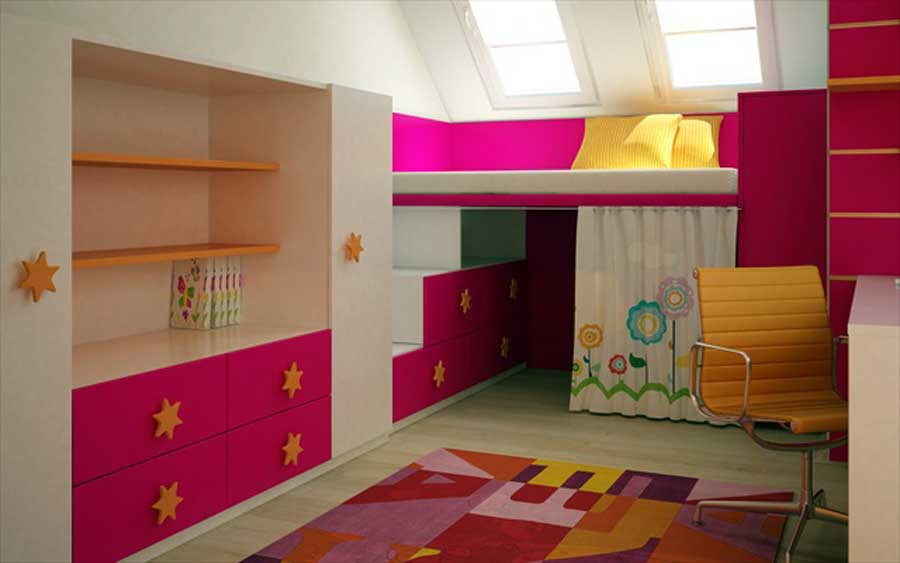 Bedroom For Teenage Girls Design Ideas  New Home Ideas- And Splendid Design Of Apartment Bedroom