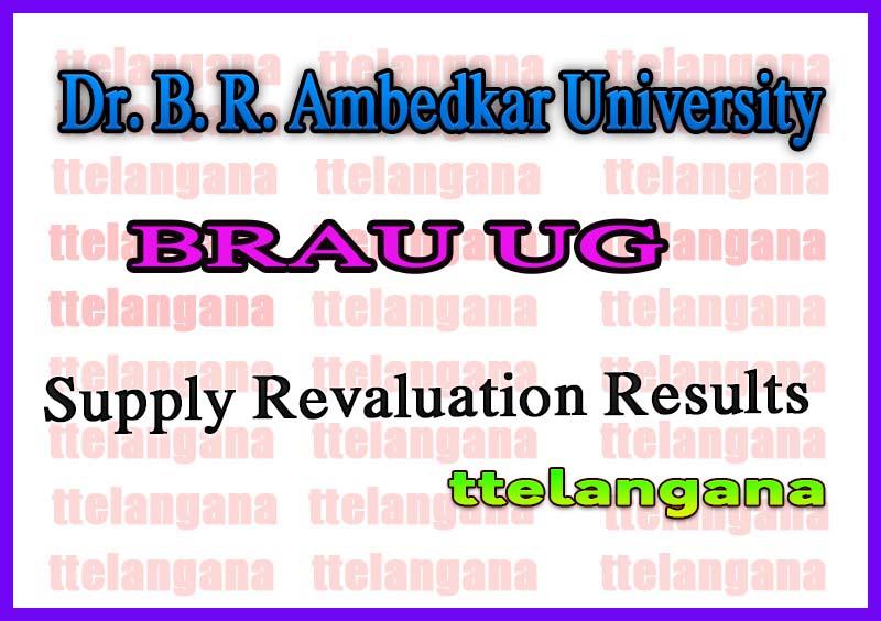 Dr. B. R. Ambedkar University UG 1st 2nd Year Supply Revaluation Results