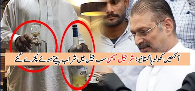 پاکستانیوں آنکھیں کھولو: یہ لوٹیرے جیلوں اور ہسپتالوں کے سب جیلوں میں آپ کے لوٹے ہوئے پیسوں سے کیا کرتے ہیں، شرجیل میمن کو چیف جسٹس نے شراب پیتے ہوئے پکڑ کر سیدھا جیل بھیج دیا:ـ دیکھئے