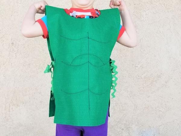 Easy DIY Incredible Hulk Kids Costume