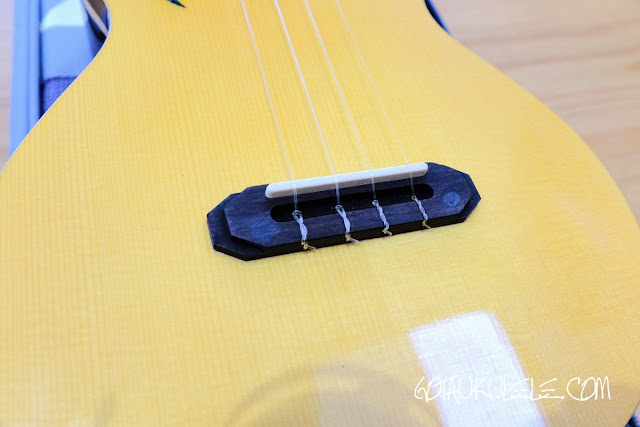 The Rebel Quark Tenor Ukulele  bridge