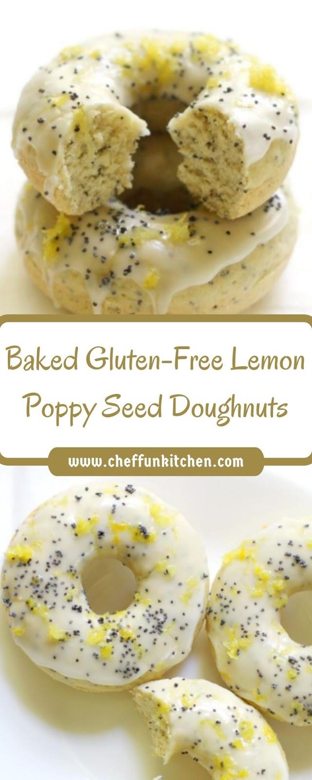 Baked Gluten-Free Lemon Poppy Seed Doughnuts