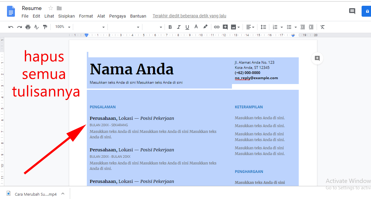 voice typing di google docs