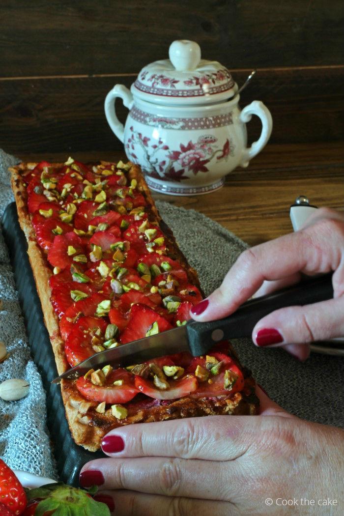 tarta-de-fresas-y-pistachos, strawberry-pistachio-tart