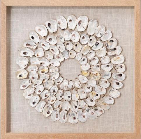 Framed Oyster Shell Art