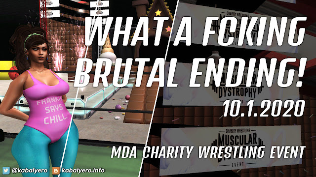 Krystalia Arcane Amante vs Barbie Wumpkins! MDA Charity Wrestling Event 2020 [Second Life Wrestling]