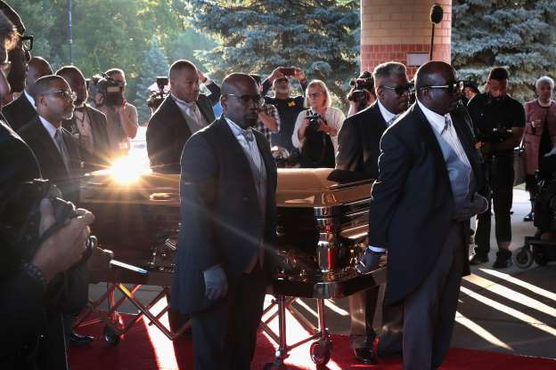 Photos: President and stars join in epic farewell to Queen of Soul