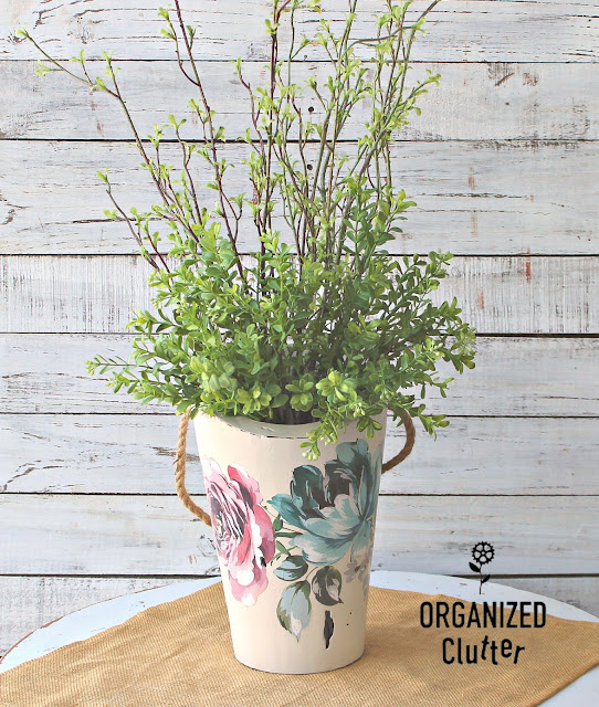 Redesigning A Thrifted Wood Vase With Prima Marketing Transfers #goodwill #thriftshopmakeover #redesignwithprima #dixiebellepaint #upcycle
