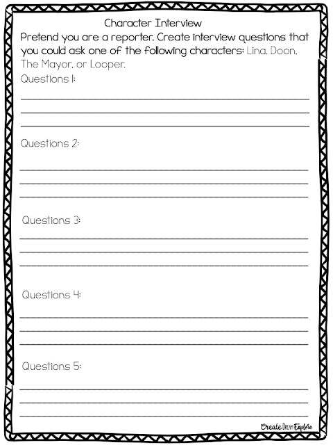 Activities to Use for Any Novel Study Create Dream Explore