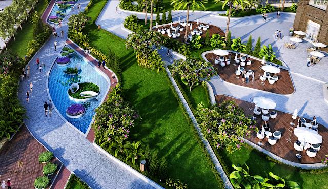 Không gian xanh tại dự án Roman Plaza