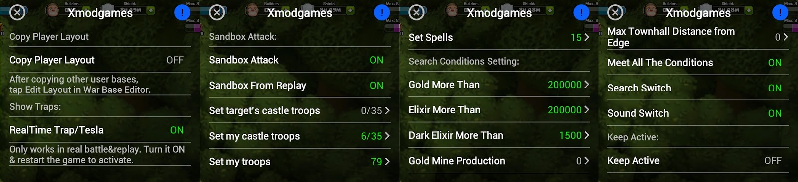 Xmod app for coc