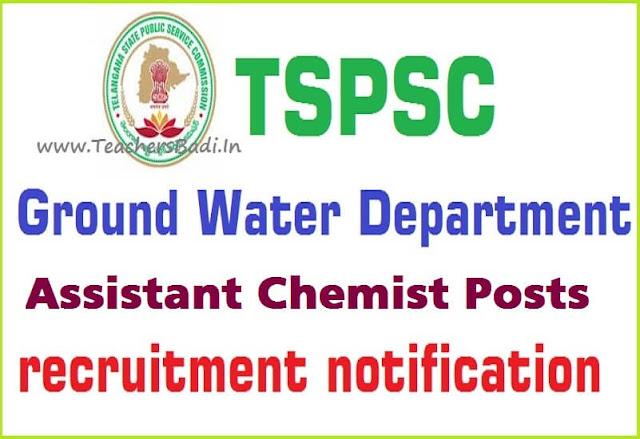 TSPSC,Assistant Chemists,Online application form