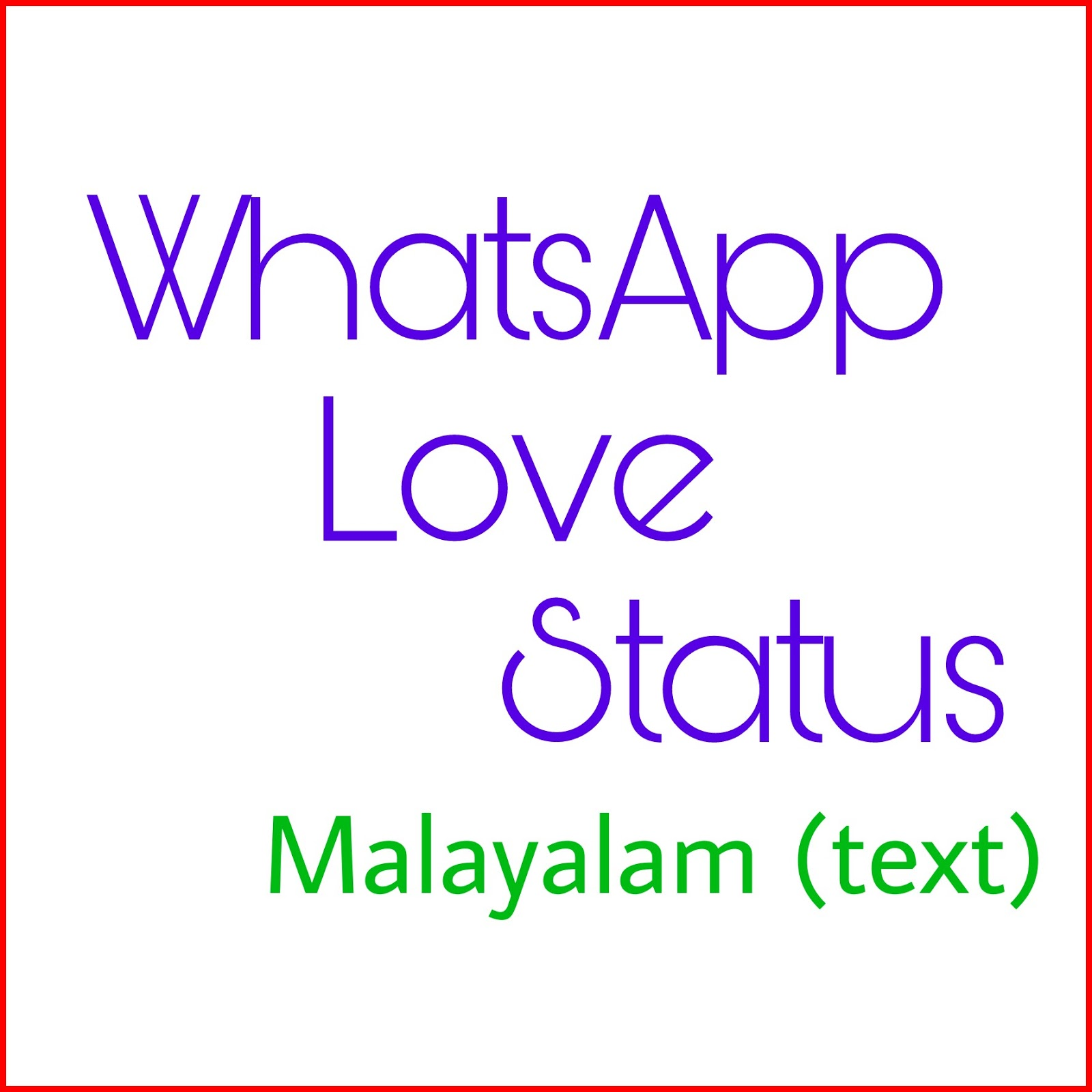 Love Status Malayalam Download: WhatsAppienCe