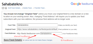 Cara Mendaftar dan Mengetahui ID FeedBurner Situs Website/Blog