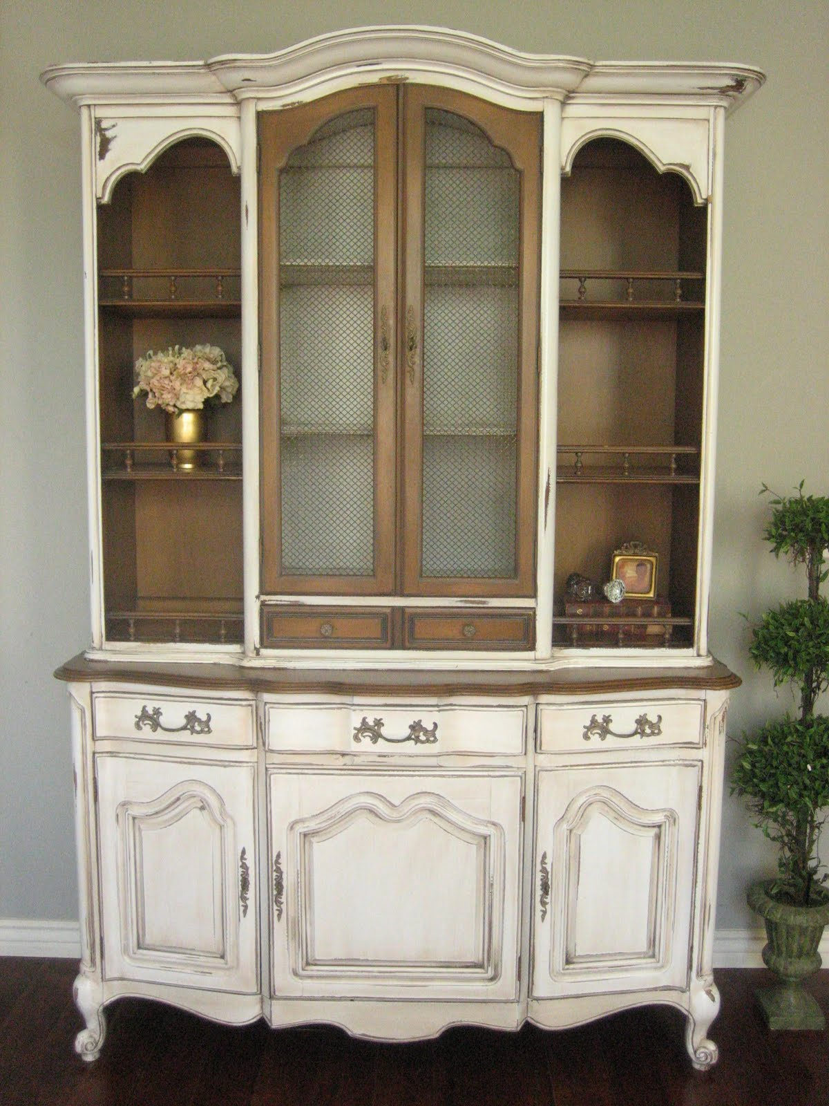 furniture hutch european paint finishes french provincial hutch