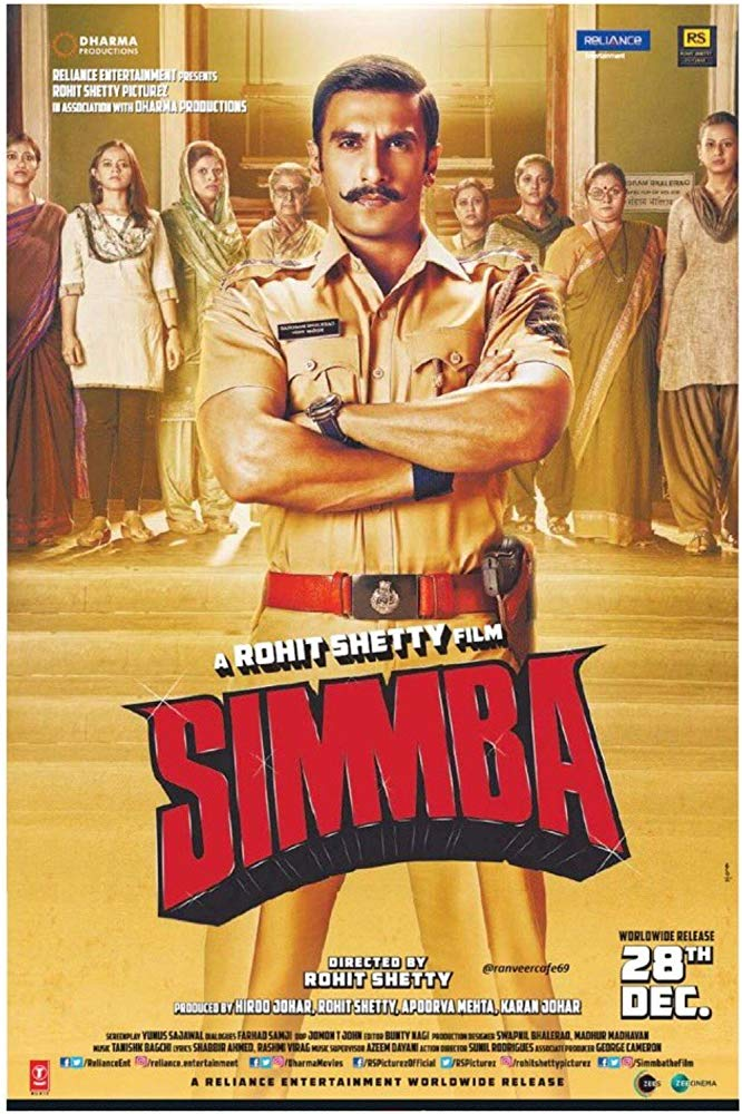 Simmba (2018) Hindi Movie pre-DVDRip x264 [950MB]