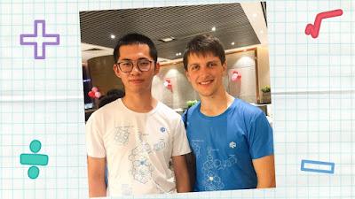 ruimin yan dari China dan feliks zemdegs dari Australia
