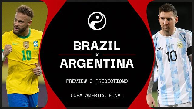 Argentina vs Brazil Copa Aamerica Final Live Streaming 2021