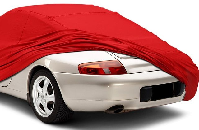 white car with red cover