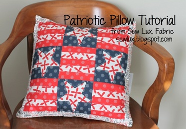 sew lux fabric blog patriotic pillow tutorial. Black Bedroom Furniture Sets. Home Design Ideas